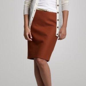 J Crew perfect pencil skirt in burnt orange 12